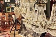 Kristallkronor i barock-/empire-/gustav. stil.