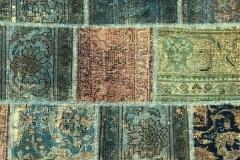 Unik patchwork vintage, ca 240x171 cm.