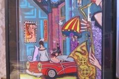 Angelica Wiik färglitografi, signerad, EA, ca 56,5x74,5 cm.