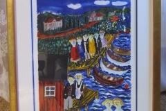 Sven Lidberg färglitografi, signerad, EA, ca 43x52 cm.