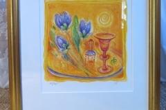 Ingbritt Irene Lagerberg färglitografi, signerad och numrerad, ca 38x40,5 cm.