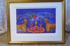 Ingbritt Irene Lagerberg färglitografi, signerad och numrerad, ca 53,5x42 cm.